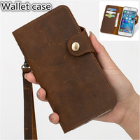 HY07 Genuine Leather Wallet Flip Case With Card Slots For Samsung Galaxy A50(6.4') Phone Case For Samsung Galaxy A50 Flip Cover