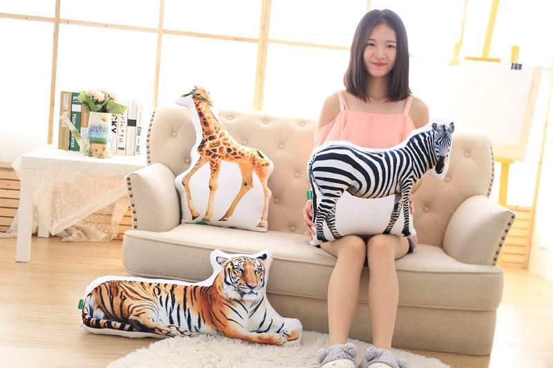 3D dimensionnel en peluche oreiller simulation animaux conception doux oreiller jouet, canapé coussin 0294