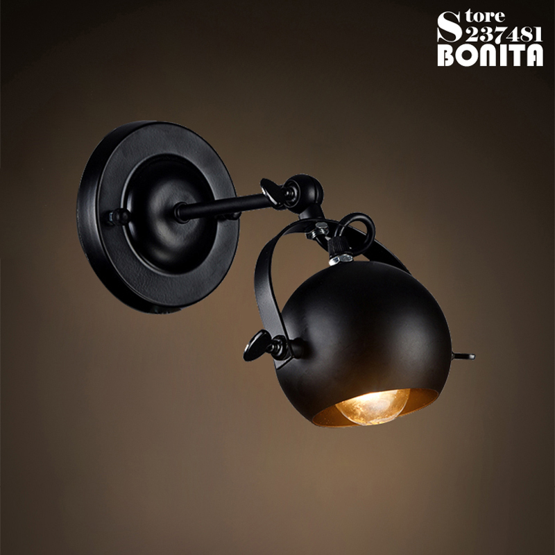 Retro Industrial Clothing Store Wall Lamp Bar Counter Wall Display LED Industrial sconces Light Edison Vintage Iron Wall Lamp Lo wall sconces double heads light umbrella shape wall lights retro industrial e27 edison lighting iron craft decorative wall lamp