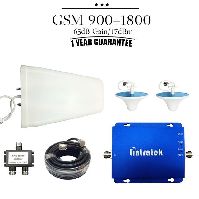 Cubierta de 500 ~ 800 metros cuadrados GSM 900 1800 mhz de Doble Banda Móvil Señal Booster 70dB de Ganancia 23dBm potencia Celular repetidor Amplificador
