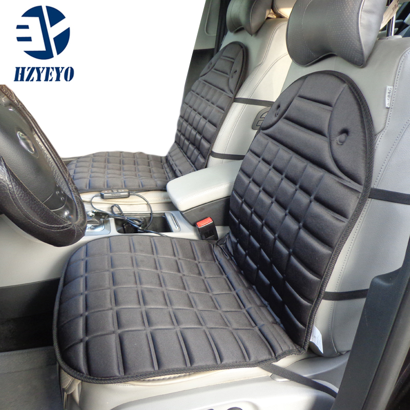 hzyeyo car seat winter warmer car heated seat cushion hot cover double pad electric heat. Black Bedroom Furniture Sets. Home Design Ideas