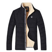 High Quality New Brand Winter Jacket Men Thick Warm Down Jacket Mens Autumn Outerwear Zippers Fleece Parka Mens Solid Coat
