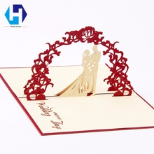 Buy  tcard hollow carved handmade kirigami gift  online