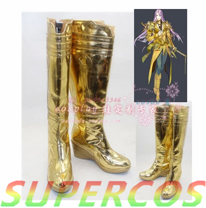 Free Shipping! Touken Ranbu Online Hachisukakotetsu Cosplay Shoes Boots Professional Handmade!Perfect customized for you!