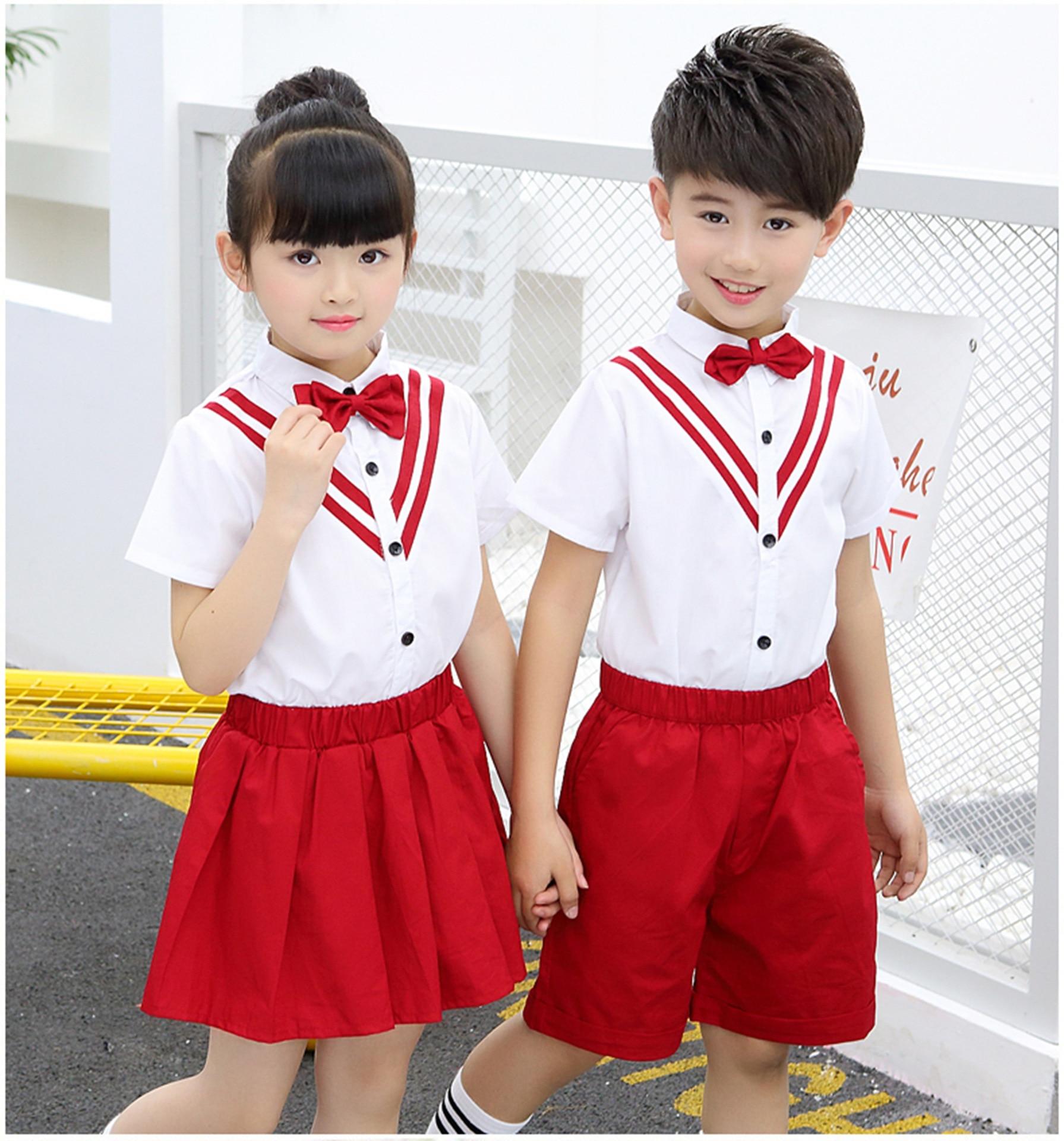 School Uniforms For Girls  And Boys Children's Performance Dress Graduation Dress Dropshipping