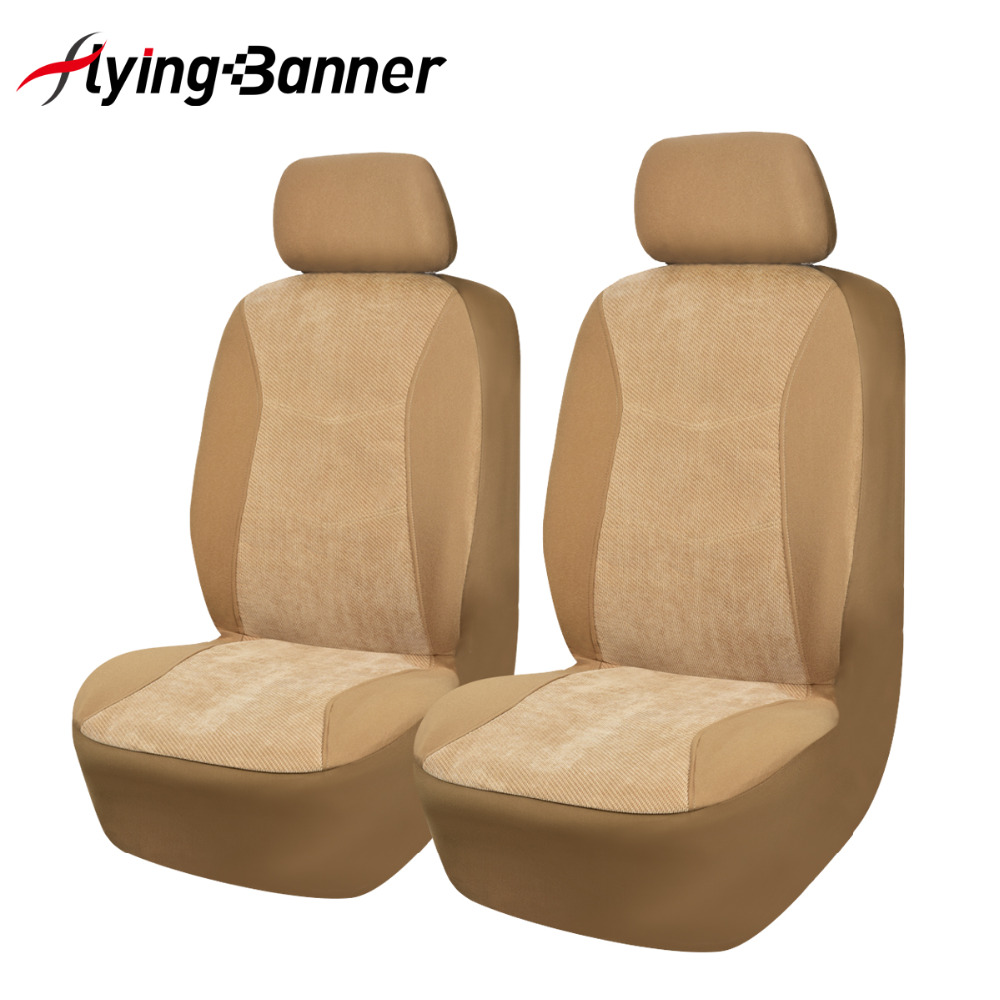 FlyingBanner 2 Front Car Seat Cover Universal Fit Most Auto Interior Decoration Accessories Protector
