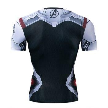 3D Printed T shirts Men Compression Shirt Iron man  1