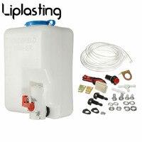 New 12V Universal Car Windscreen Washer Bottle Reservoir Pump Bottle Tank Kit With Pump Hose Jet