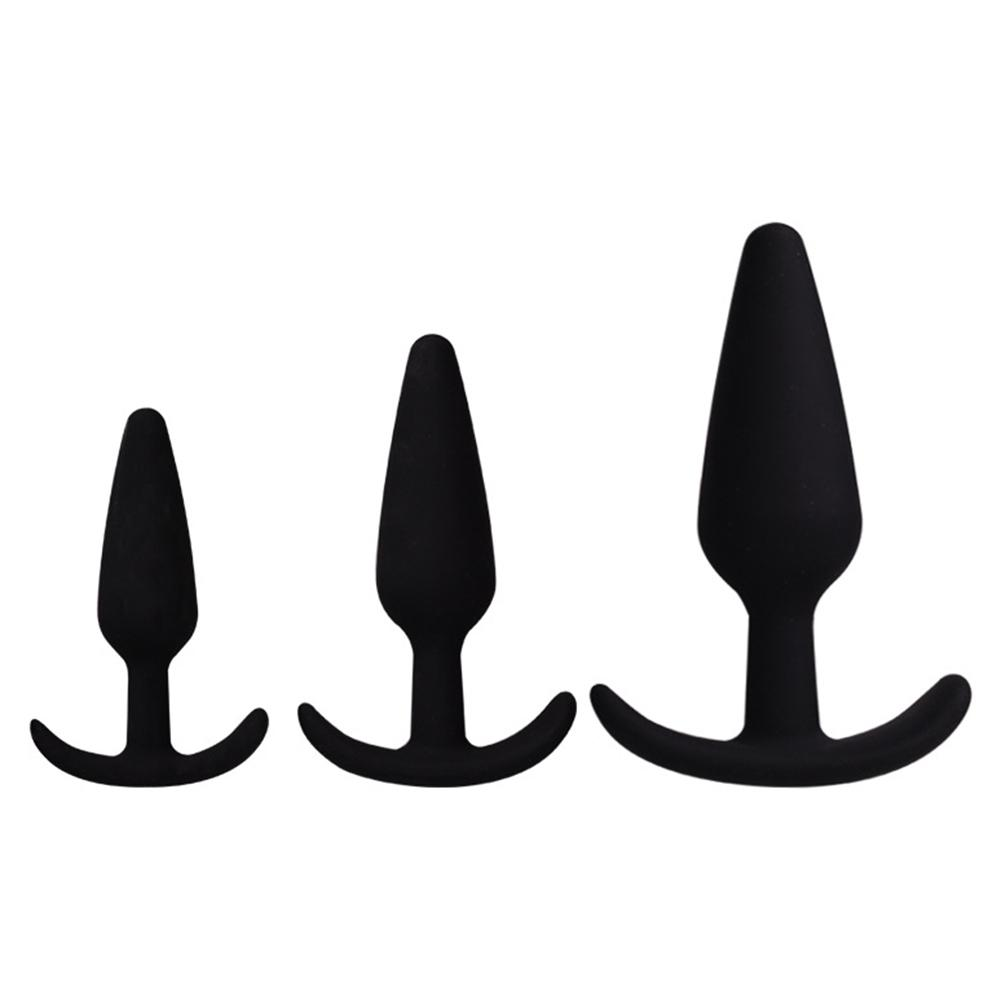 RABBITOW Silicone Anal Plug Butt Plug Trainer Adult Toys For Men Women Anal Trainer for Women Men Couples Lover