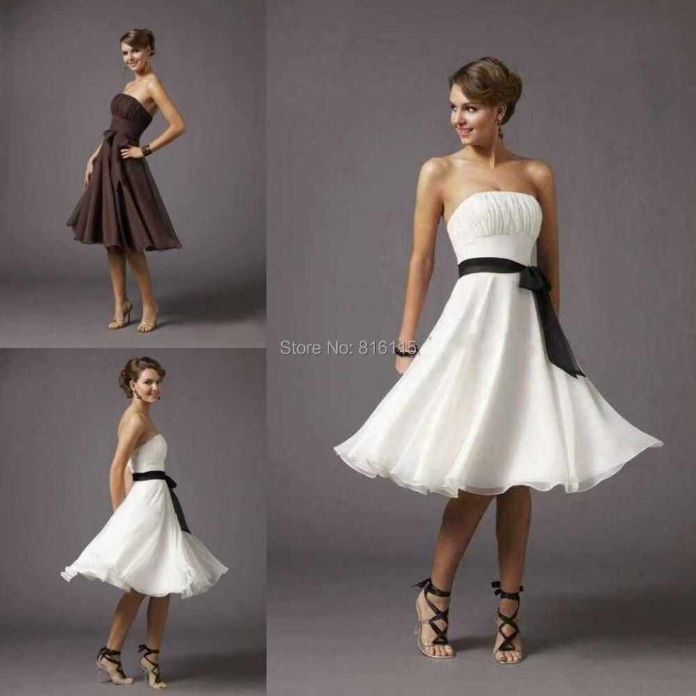 Popular beach wedding bridesmaid buy cheap beach wedding for Black and white beach wedding dresses