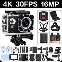 4 K 30FPS 16MP wifi Экшн-камера 2 дюйма Спорт HD 1080P 60fps подводная камера deportiva go Водонепроницаемая 4 K 170D mini pro спортивная камера