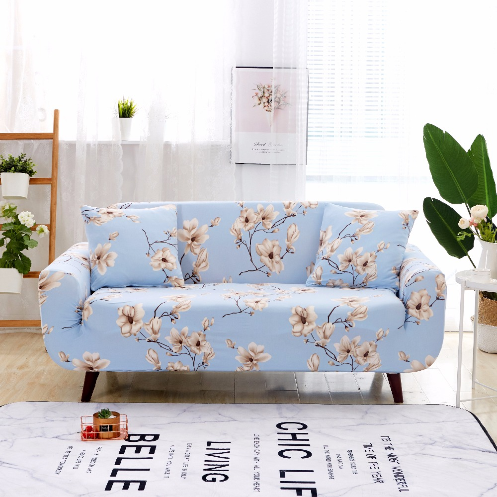 1/2/3/4 Seater Sofa Covers Chair Couch Protect Stretch Elastic Loveseat Slipcover For Living Room Sofa Cover studio couch