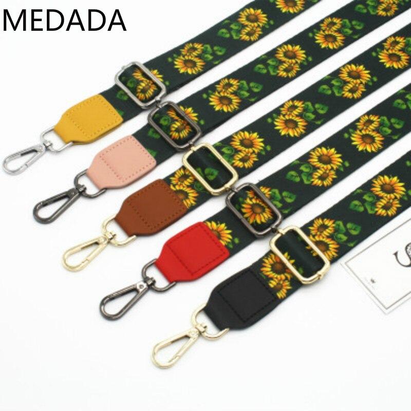 MEDADA NEW Coloured shoulder strap fittings, single strap, lady bag adjustable wide 3.8cm
