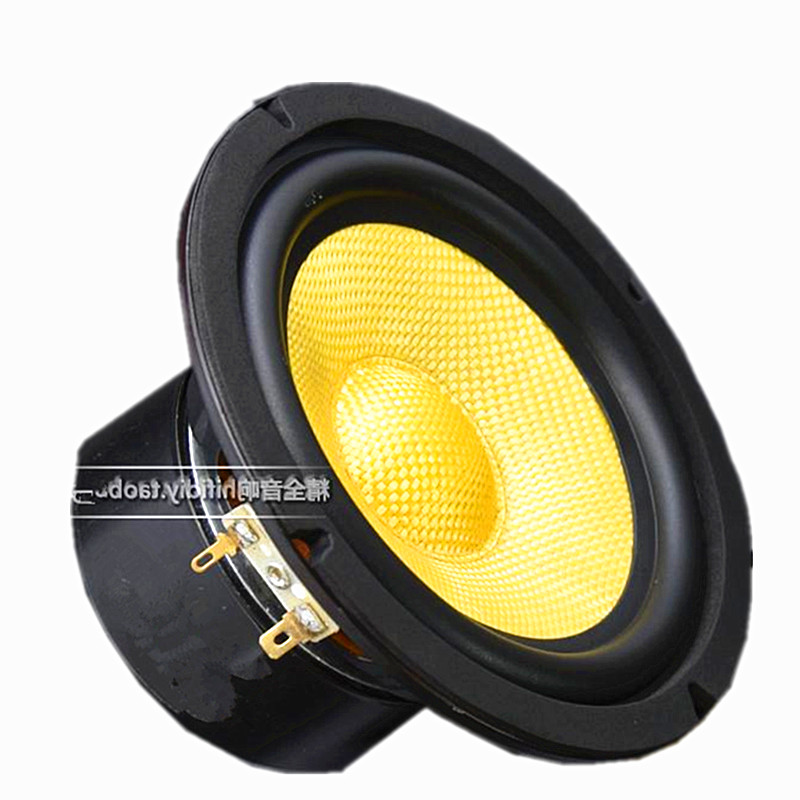 1PCS 5 inch 5.5 inch Woofer Speaker Bass 4 Ohm 35W 8ohm 70W For subwoofer 2 way speaker bass unit Bookshelf Speaker aurum cantus leisure 2 5 3 4 inch 2 way 2 driver bookshelf speaker g2 aluminum ribbon tweeter pair