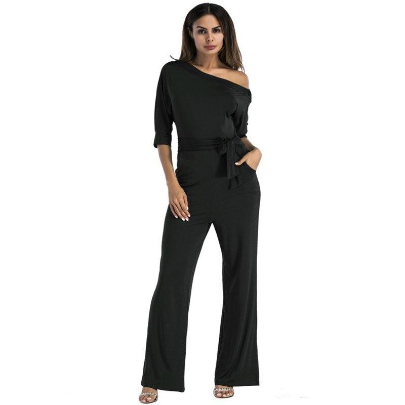 2017 Women red rompers dress Slash Slash Off Shoulder Elastic milk silk Wide Legs macacao Femme plus size sexy tunic overalls
