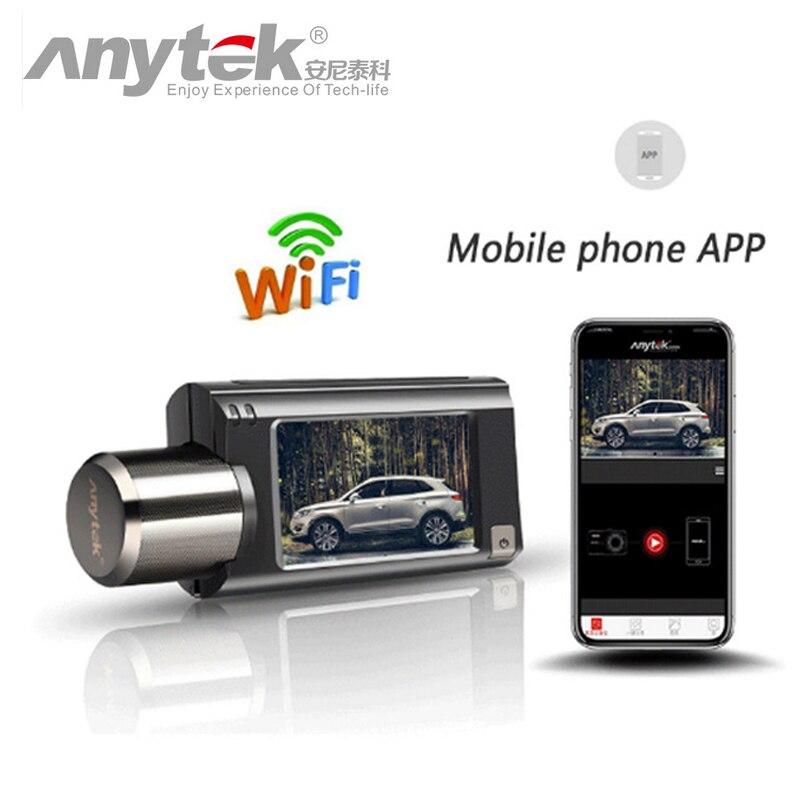 Anytek G100 haut de gamme voiture DVR Novatek NTK96658 1080 P FHD WiFi caméra Dash Cam registraire enregistreur vidéo enregistreur GPS Tracker