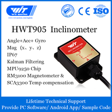 High Precision Inclinometer HWT905 Military Grade Accelerometer+Digital Compass+Gyro,with Temperature&Magnetometer Compensation