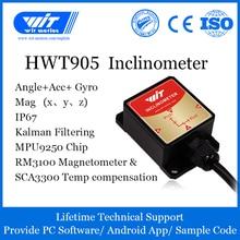 גבוהה דיוק Inclinometer HWT905 צבאי בדרגה תאוצה + דיגיטלי מצפן + ג יירו, עם טמפרטורת & מגנטומטר פיצוי