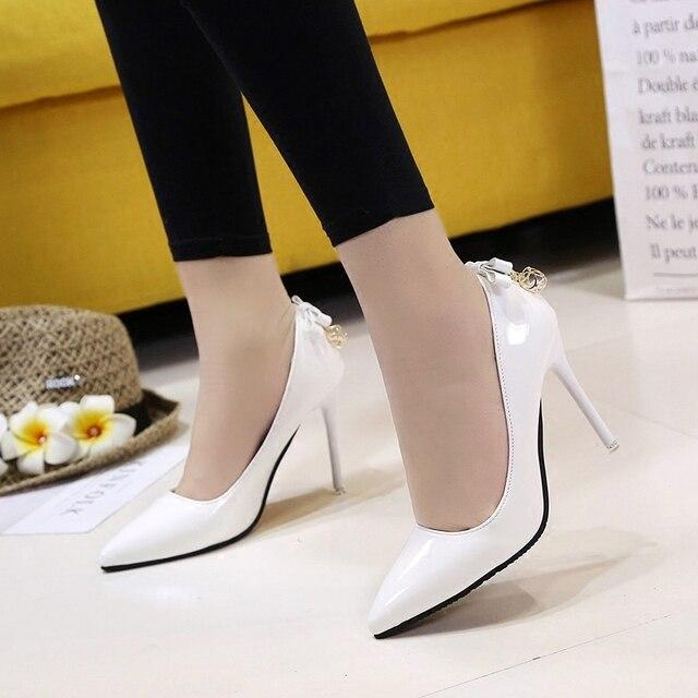 2018 primavera e autunno nuovo delle donne singolo scarpe Coreano moda ha i tacchi alti selvaggio superficiale bocca arco delle donne scarpe