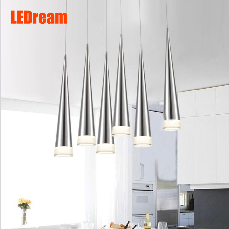 Cone Spiral Pendant Lamp Meteor Shower Strip LED Acrylic Chandelier Ceiling Light Tapered Droplight Individuality Restaurant KTV