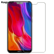 Wangcangli 2.5D tempered glass For Nokia 6.1 plus mobile phone protective film 9H screen protector 0.3mm Ultra-thin flim