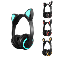 ZW 19 headphone bluetooth headset wireless Cosplay ear flash Deer fairy rabbit Cat ears hifi headset for women girl gift