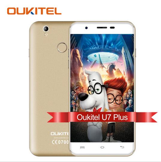 Original OUKITEL U7 Plus Android 6 0 Smartphone 5 5 inch MTK6737 Quad Core Mobile phone
