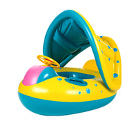 Inflatable yacht Swimming Circle Air Mattress Baby Float Seat Boat Tube Ring Rubber Swim Swimming Pool Toys Ring Portable