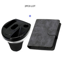 JINXINGCHENG Wallet Pouch Bag Case for iqos Multi 3.0 Holder Leather Case + Car Charger for iqos 3 Multi Charging and Case