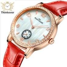 W1169 GARLIASHE Impermeable Encanto Moda Mujer Reloj de Pulsera de Cuarzo Reloj de pulsera de Cuero Casual Relojes de Regalo Relogio Feminino