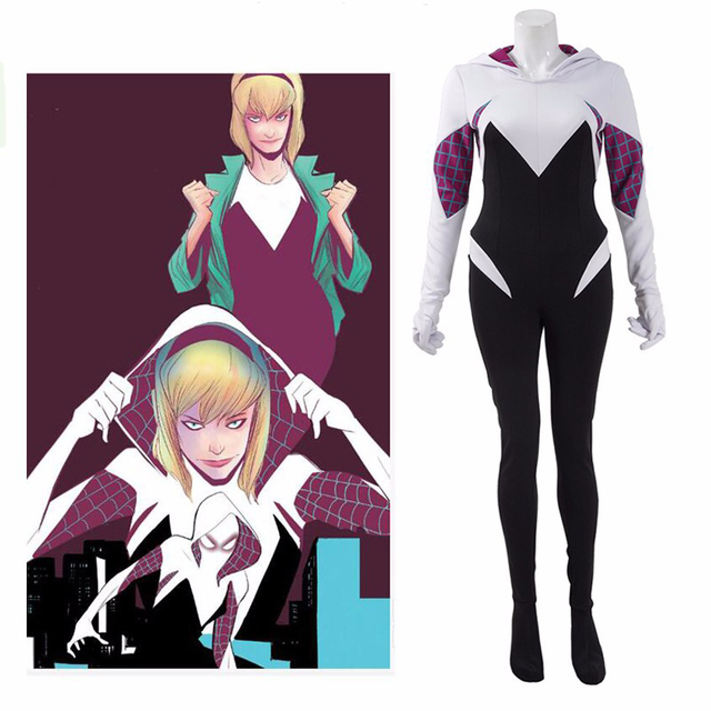 Spiderman Costume Spider Women Spider Gwen Cosplay ...