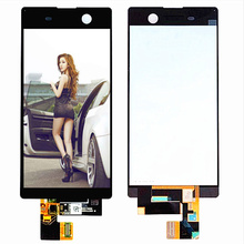 For Sony Xperia M5 LCD Display Touch Screen Digitizer Assembly With Frame E5603 E5606 E5653 Replacement For 5.0 SONY M5 LCD 4 6 white or black for sony xperia z3 mini compact d5803 d5833 lcd display touch digitizer screen assembly sticker