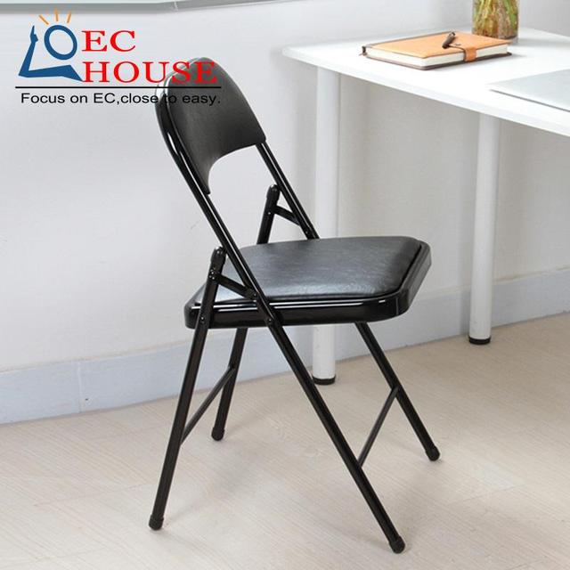 genuine leather household folding office conference seat backrest cr comter training FREE SHIPPING