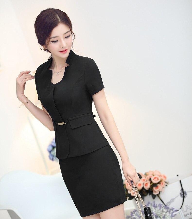 Aliexpress.com : Buy Summer Fashion Black Blazer Women Skirt Suits ...