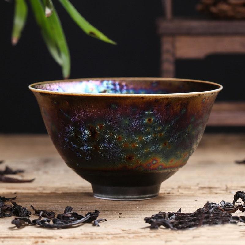 Colorful Temmoku Glaze Teacups 2