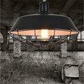 Vintage Kronleuchter Lampe 36cm/46cm Metall Anhänger Lampenschirm Lager Garage Stil Beleuchtung Leuchte Mit Edison-birne