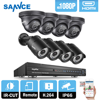 2016 SANNCE 8CH CCTV System 2 0MP 1080P AHD DVR 4PCS Outdoor Night Vision Weatherproof Security