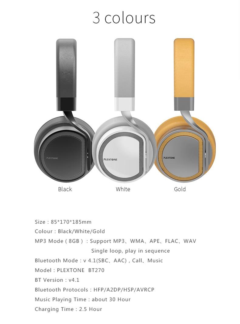 Plextone BT270 Wireless bluetooth Headphone 12