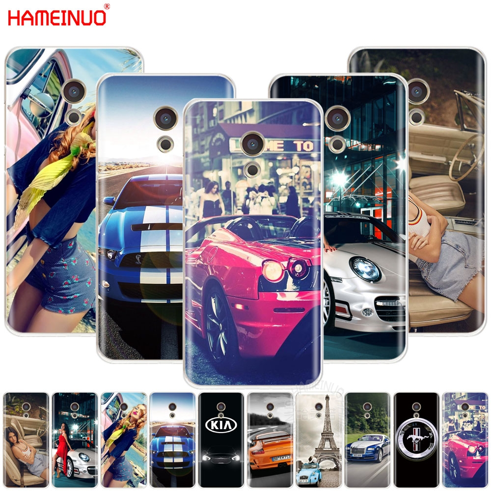 HAMEINUO Sports Racing Cars And Girls Cover Phone Case For Meizu M6 M5 M5S M2 M3 M3S MX4 MX5 MX6 PRO 6 5 U10 U20 Note Plus