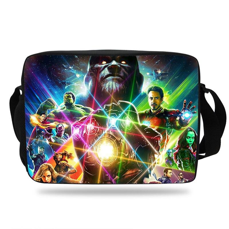 100% Wahr Neue Die Avengers Unendlichkeit Krieg Druck Schule Schulter Messenger Tasche Für Kinder Jungen Mädchen Thanos Print Schulter Tasche Für Kinder