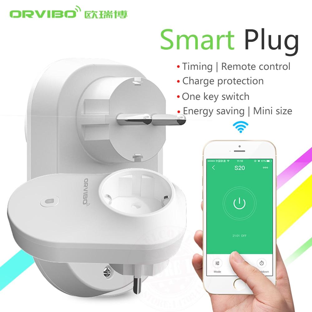2017 orvibo smart home system smart power socket plug b25 eu 4g wifi remote controller wireless. Black Bedroom Furniture Sets. Home Design Ideas