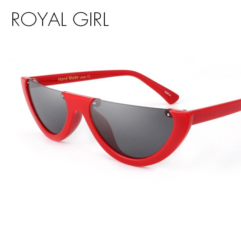 ROYAL GIRL moda medio marco sin montura Flat Top gafas de sol mujer ...