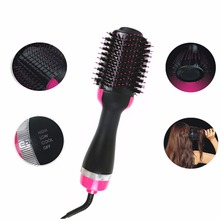 Pro Electric Hair Dryer Comb Multifunctional Infrared Negative Ion Hot Air Straight Curling Hairdryer