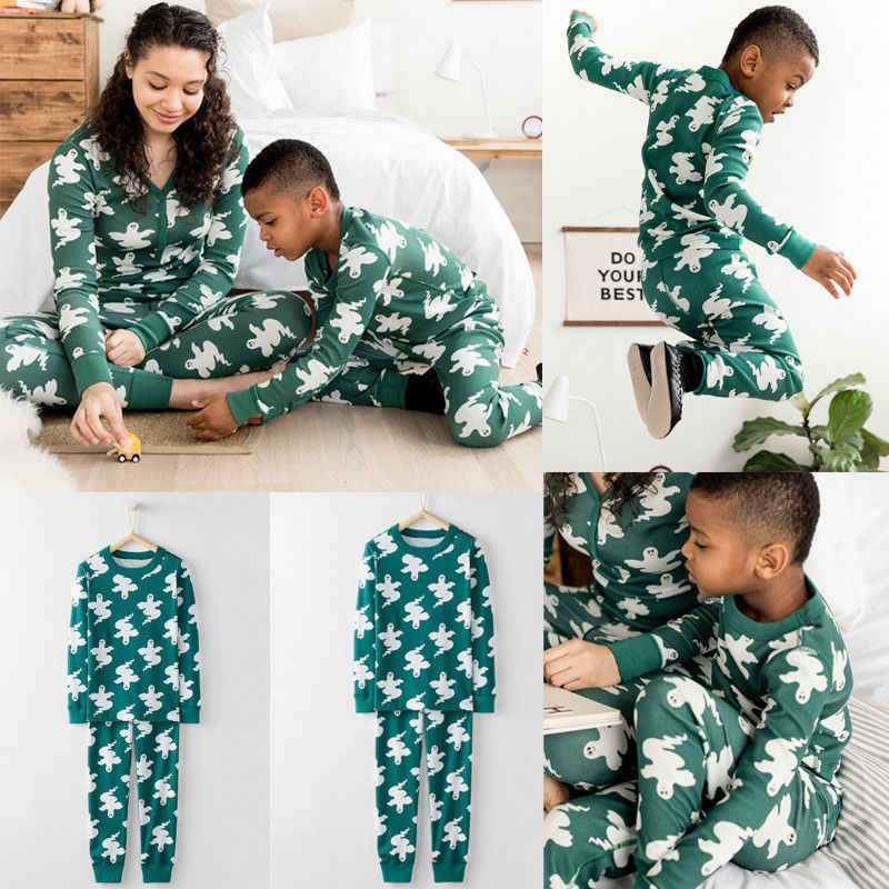 505af275ed Brand New 2 Pieces Set Kids Adult Family Matching Christmas Halloween Clothing  Pajamas Set Sleepwear Nightwear