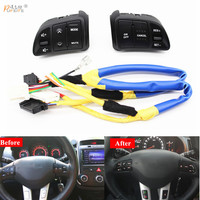free shipping Multi function Steering Wheel Audio Cruise Control Buttons For Kia sportage SL with back light car styling