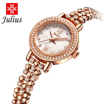 2015 New Julius Lady Woman Wrist Watch Quartz Hours Best Fashion Dress Korea Bracelet Office Shell