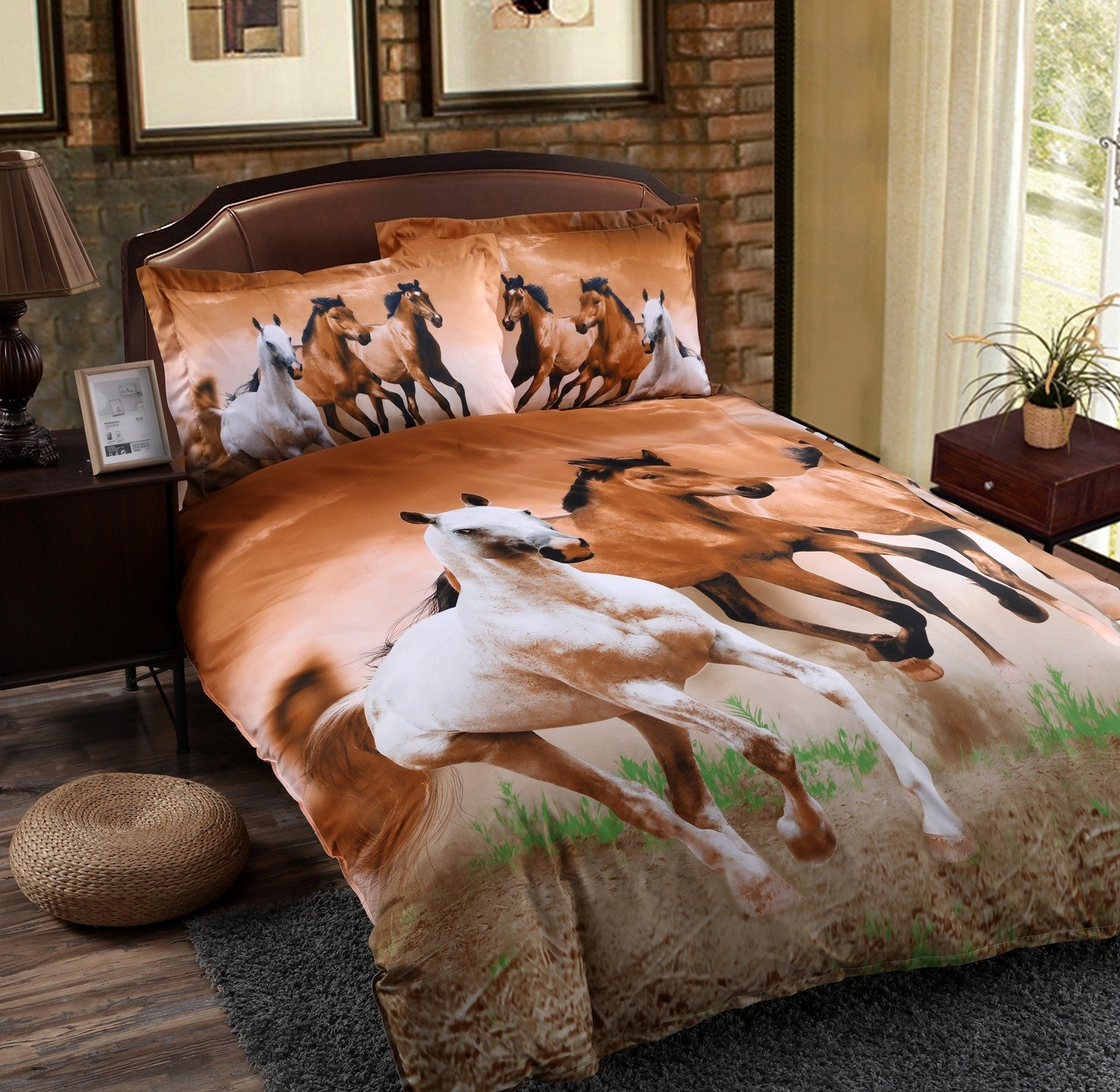 Babycare Pro Galloping Horse Reactive Print Polyester 3D Duvet Cover Bedding Sets Twin Size 4 Pieces  bedding set 8 piece | Orrissa 8 Piece Comforter Set by Madison Park Babycare Pro Galloping Horse Reactive Print Polyester 3D Duvet Cover font b Bedding b font font