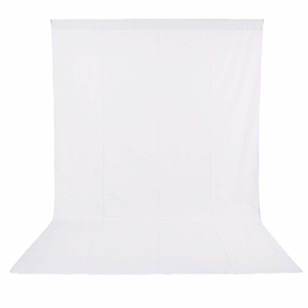 Neewer 3M x 6M PRO Photo Studio 100% Pure Muslin Collapsible Backdrop Background for Photography,Video and Televison - White stylish protective silicone back case for motorola x phone translucent white