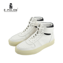 Fashion Men Boots British Style Brogue Martin Boots Genuine Leather Ankle Lace Up Casual Men White Motorcycle Shoes 2017