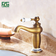 Free Shipping Contemporary Concise Bathroom Faucet Antique Bronze Finish Brass Basin Sink Faucet Single Handle Water Tap FLG876 free shipping luxury swan design antique brass finish faucet bathroom basin mixer single handle countertop basin tap gi61